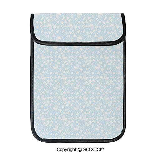 - SCOCICI Protective Storage Carrying Sleeve Case - Hearts Background with Teddy Bears Strollers Infant Clothes Newborn Child Theme Decorative Compatible with 12.9 Inch iPad Pro Tablet