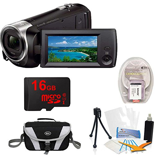 Sony HD Video Recording HDRCX405 Handycam Camcorder Black Kit by Beach Camera