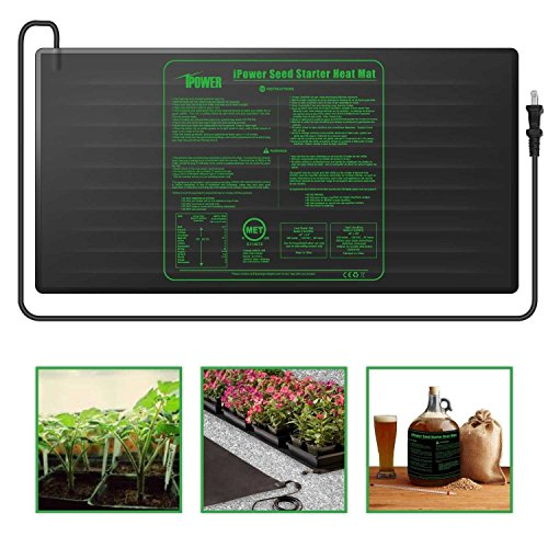 iPower Large Seedling Heat Mat 48'' x 20'' Warm Hydroponic Heating Pad with Durable Waterproof Design by iPower