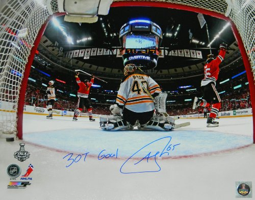 "Andrew Shaw Signed Blackhawks 2013 Stanley Cup Finals Game 1 Winning Goal 16x20 Photo w/""3OT Goal"""