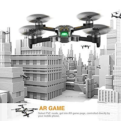 Atoyscasa FPV RC Drone with 120° FOV 720P HD Wi-Fi Camera, Foldable 2.4GHz 6-Axis Gyro Quadcopter Drones for Kids & Beginners - Altitude Hold, One Key Take Off/Landing, 3D Flip, AR Game, APP Control