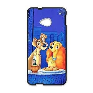 Dama y el Vagabundo BS54YG3 funda HTC Uno M7 teléfono celular caso Funda C7NF5N4DS
