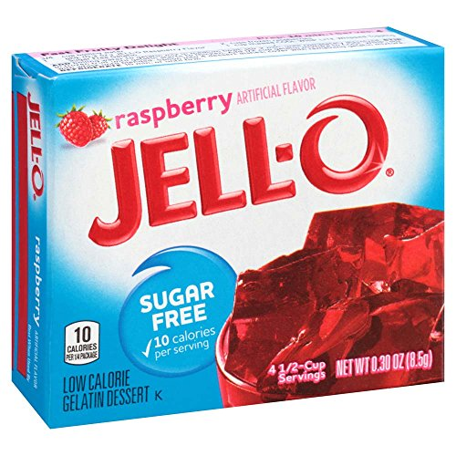 JELL-O Raspberry Sugar Free Gelatin Dessert Mix (0.3 oz Boxes, Pack of - Jello Gelatin