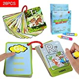 Coolplay® Water Drawing Painting Writing Ring Card Board Magic Pen Doodle Toy Gift - Splash Cards -26 Alphabet