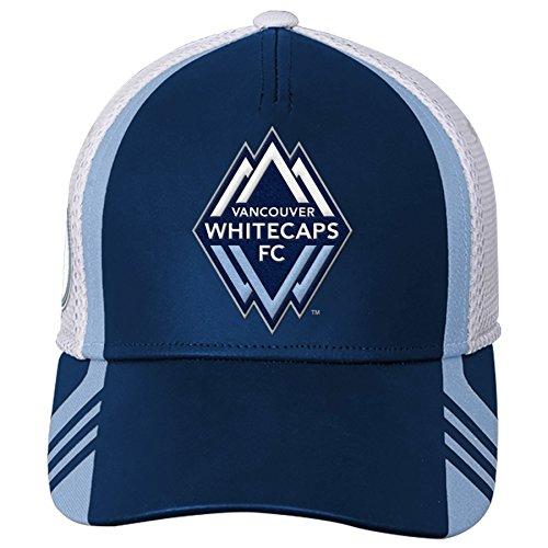 - Outerstuff MLS Vancouver Whitecaps Boys Structured Flex Hat, Dark Navy, One Size (8)