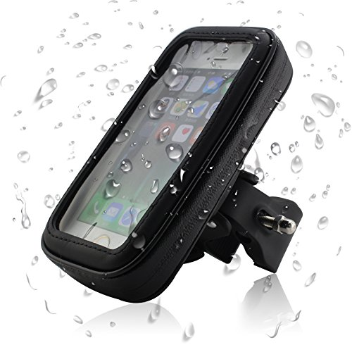 Globalbox Universal WaterProof Pouch Bicycle Bike Mount Holder for Iphone 6/Samsung S3/S4 / Alpha / LG / Motorola / HTC Android Window Mobile Cell Phone / GPS and MP3 Player, Middle