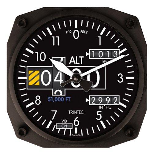 Trintec Series 2060 NV Altimeter Altitude Clock 6.5