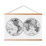 Landmass 17x24 Frame for Scratch Off Map. Magnetic Hanger Frame for Posters and Prints