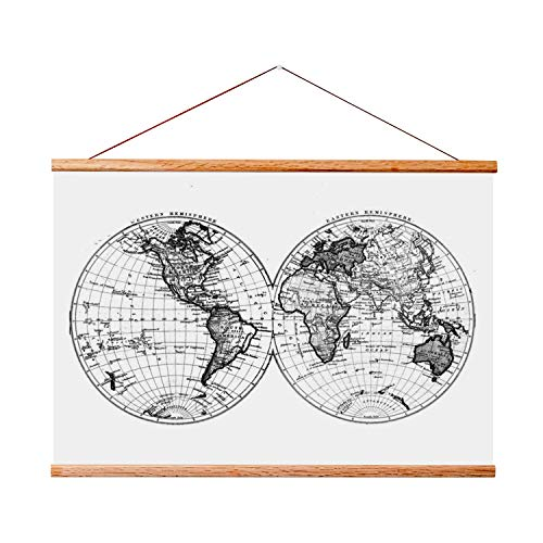 Landmass 24x36 Frame for Scratch Off Map. Magnetic Hanger Fr