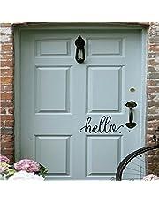 Hello Door Wall Decal Farmhouse Vinyl Decal