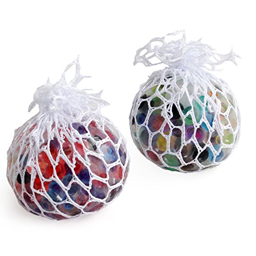 Hpapadks Squeeze Toys Rainbow Mesh Ball Stress Glowing Squeeze Grape Toys Anxiety Relief Stress Ball (Things For One Dollar)