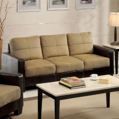 Townsend Microfiber Sofa in Dark Taupe