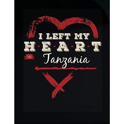 Amazon com: MESS I Left My Heart in Tanzania Pride - Transparent