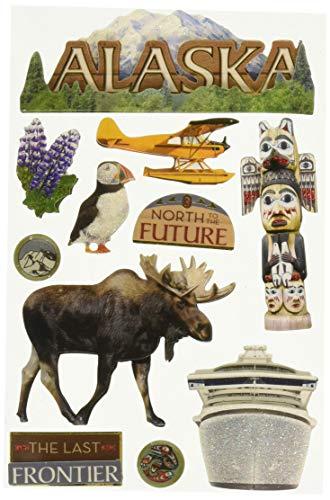 "Paper House Productions STDM-0116 3D Sticker 4.5"" x 7"" Sheet, Alaska"