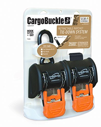 CargoBuckle F18800 G3 Retractable Ratchet Tie-Down System, 2-Pack by CargoBuckle (Image #3)