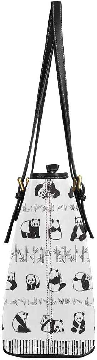 InterestPrint Top Handle Satchel HandBags Shoulder Bags Tote Bags Purse Panda Animal