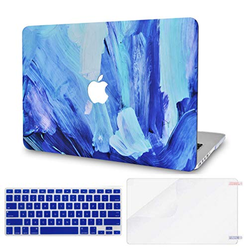 LuvCase 3 in 1 LaptopCase with Keyboard Cover and Screen Protector for MacBook Air 13 Inch(2020/19/18Release) New Version A1932 with Retina Display (Touch ID)HardShellCover(Oil Paint 5)