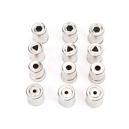 12 tapas de acero Magnetron para horno microondas de repuesto, tono plateado para Galanz Midea Haier