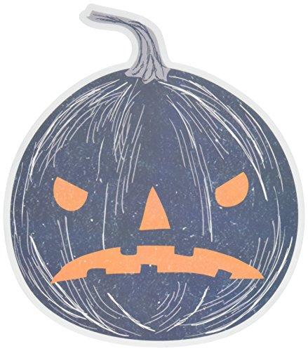 Martha Stewart Crafts Spooky Night Light Pumpkin Mirror Cling, 48-20422, Medium, Black -
