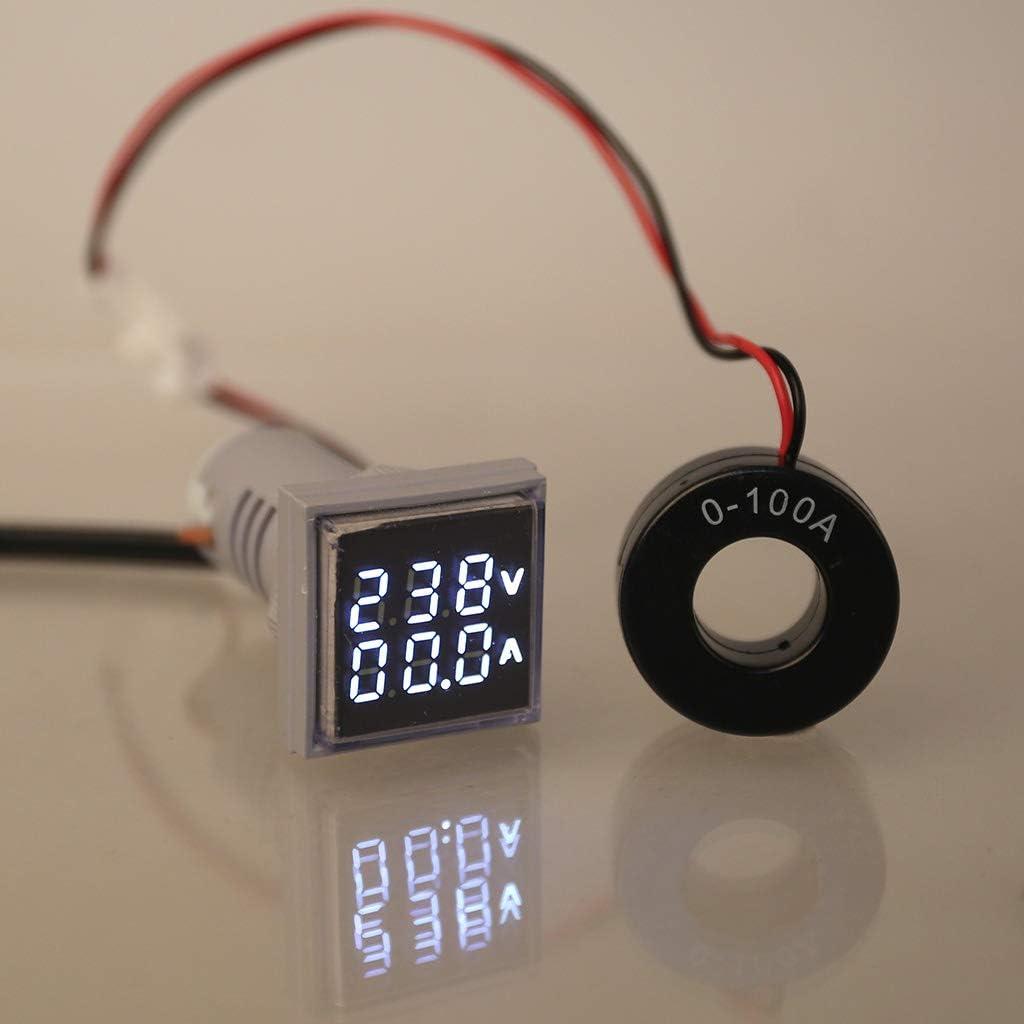 AC 60-500V 0-100A Square LED Digital Dual Display Voltmeter/& Ammeter Voltage Current Test Meter Gauge by Keaiduoa
