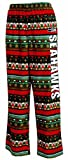 Concepts Sport Seattle Seahawks NFL Holiday Pattern Mens Micro Fleece Scatter Pattern Pajama Pants