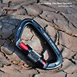 FresKaro Twist Lock Carabiner Clips, Auto Lock and