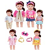 Huang Cheng Toys Set of 6 14-15 Inch Alive Lovely Doll 18-inch American Girl Clothes Outfits Costume Handmade