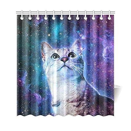 Amazon Your Fantasia Galaxy Space Cat Bathroom Waterproof