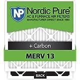 Nordic Pure 20x25x5 Lennox X6675 Replacement MERV 13 Plus Carbon AC Furnace Air Filters, Quantity 4