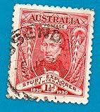 Australia Used Postage Stamp (1930) 1 1/2p Capt Charles Sturt Scott# 104