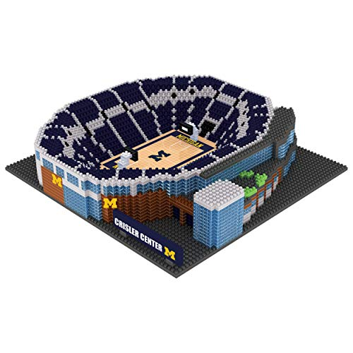 Michigan Wolverines Ncaa Basketball - FOCO NCAA Michigan Wolverines 3D BRXLZ Basketball Arena Stadium Building Block Set3D BRXLZ Basketball Arena Stadium Building Block Set, Team Color, One Size