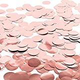 Whaline Paper Confetti Circles Tissue Party Table Confetti for Wedding, Holiday, Anniversary, Birthday, Mixed Colors, 1 Inch (Rose Gold)