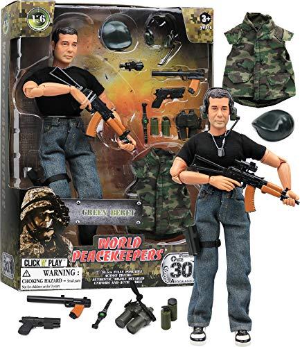 Click N' Play Military Green Beret Elite Swat Unit 12