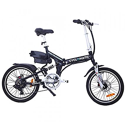 Cyclamatic Cx4 Pro Dual Suspension Foldaway E Bike Electric Bicycle Black