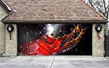Christmas Garage Door Cover Banners 3d Santa In A Sleigh Holiday Outside Decorations Outdoor Decor for Garage Door G42