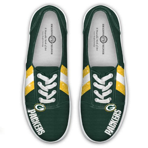 264bfe56 NFL Green Bay Packers Canvas Women's Shoes: I Love The Packers by ...