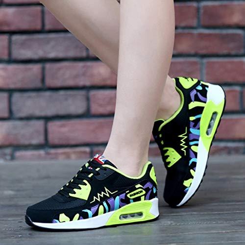 de Deporte Mujeres Recorrido Malla de Planos Zapatos de Zapatillas Zapatos Zapatillas la para del Manera del Correr Respirables Aire de de Las Deporte Que recorren de Aptitud la 5wqqCIgxz
