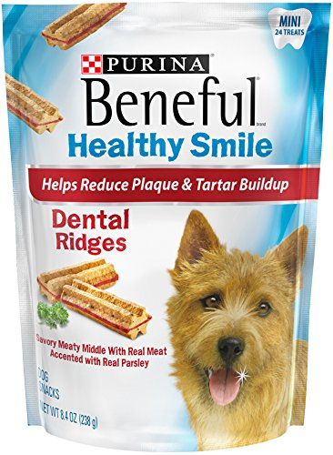 Purina Beneful Healthy Smile Dental Ridges Mini Dog Treats - 8.4 oz. Pouch - Pack of 5 by Purina Beneful