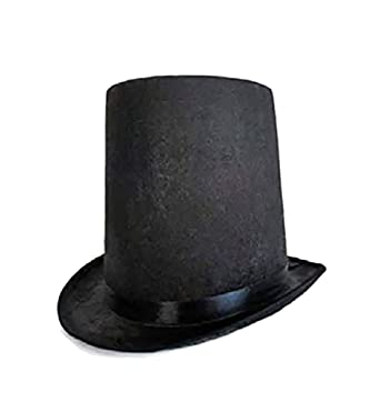 686e9ccf3 Abraham Lincoln Stovepipe Tall Top Hat Costume Accessory Adult/Youth
