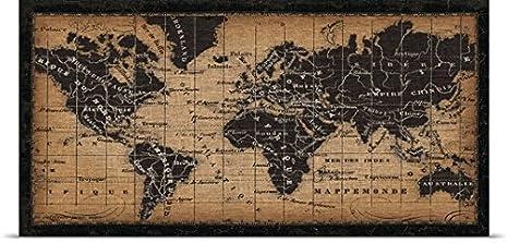 Amazon.com: GREATBIGCANVAS Entitled Old World Map Poster ...