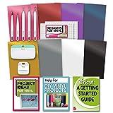 Cricut Essential Tools & Vinyl Bundle - Scraper, Weeder, Beginner Guide, Designs
