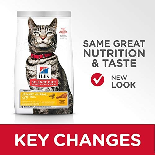 Hill's Science Diet Dry Cat Food, Adult, Urinary & Hairball Control, Chicken Recipe 5
