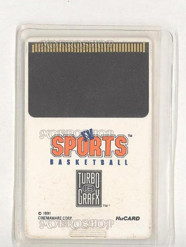 TV Sports Basketball TG16 Turbo Grafx 16
