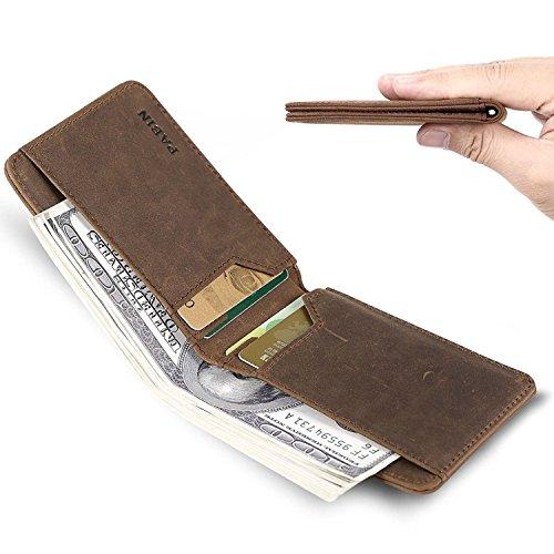 Luxe Leather Slim Minimalist Wallet for Men - RFID Blocking Front Pocket Wallet