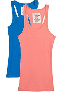 6ac9d9176585b Zenana Trendyfriday Women s Ribbed Racerback Athletic Active Tank Tops 2 4  Packs