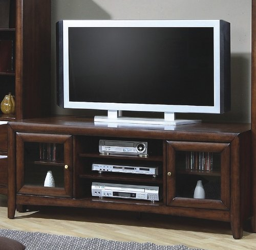 Contemporary Walnut Finish LCD / Plasma Flat Panel TV ()