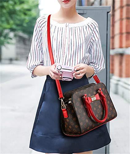 a mano beige Yixin rossa piccola Borsa donna per AxwUwg