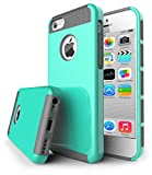 5c iphone light blue wallet case - iPhone 5C Case,J.west 2 in 1 Cases Hard Plastic Shell and Soft TPU Dual Layer Hybrid [Shock Proof] Cover for Apple iPhone 5C, Light Blue&Gray