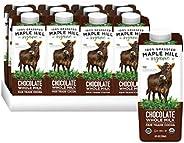 Maple Hill, Shelf Stable Milk, 100% Grass-Fed, Organic-12 pack- 8 oz Cartons Whole Chocolate Milk