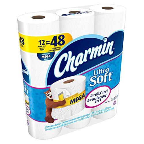 037000940500 - Charmin Ultra Soft Toilet Paper Mega Rolls, 308/Roll, 12 Roll/Pack, 4 Pk/Carton carousel main 2